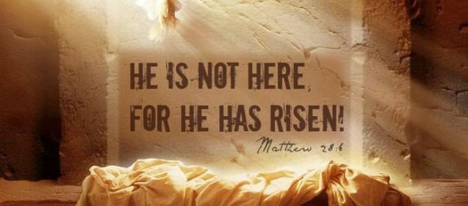 He is Risen. Christian Devotional at Easter