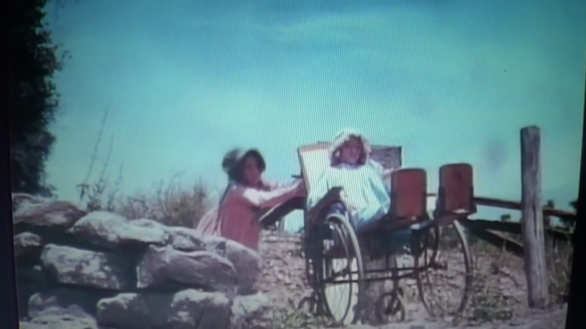Laura pushes Nellie in wheelchair